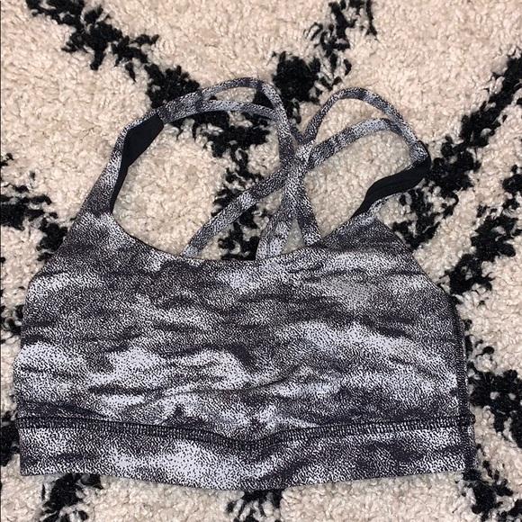 lululemon athletica Other - lululemon black and white camo sports bra